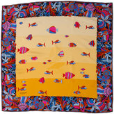 Vintage Colorful Fish Silk Scarf-US$24.00 at American Apparel
