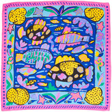 Vintage Colorful Marine Life Silk Scarf - US$28.00 at American Apparel